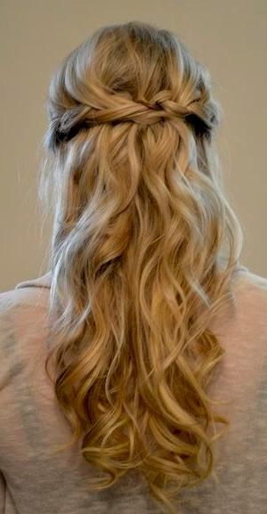 Recent Wedding Half Up Long Hairstyles Intended For 25+ Beautiful Half Up Wedding Hair Ideas On Pinterest | Bridal (View 11 of 20)