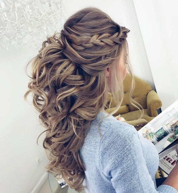 Recent Wedding Half Up Long Hairstyles Regarding Best 25+ Half Up Half Down Wedding Hair Ideas On Pinterest (View 20 of 20)