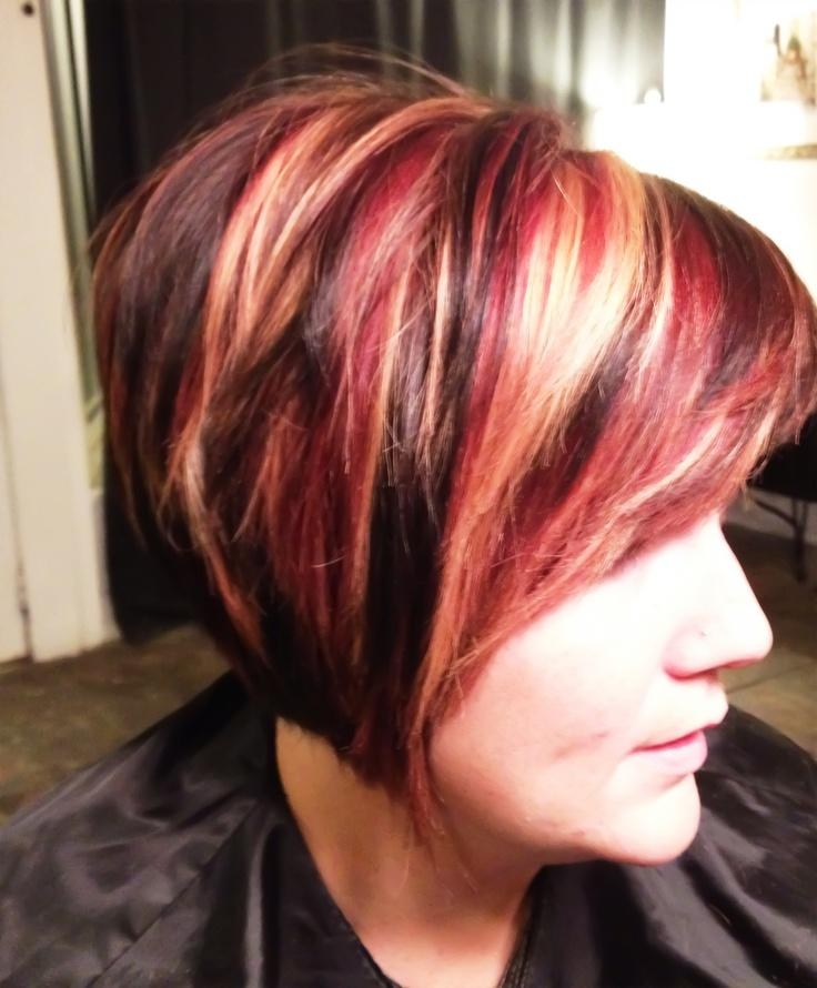 Red Brown Short Hair – Brown Hairs In Short Haircuts With Red And Blonde Highlights (View 5 of 20)