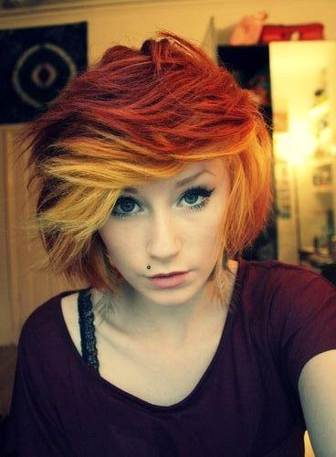 Red Ombre Hair Color Short Hair | Short Hairstyles Throughout Fire Red Short Hairstyles (View 17 of 20)