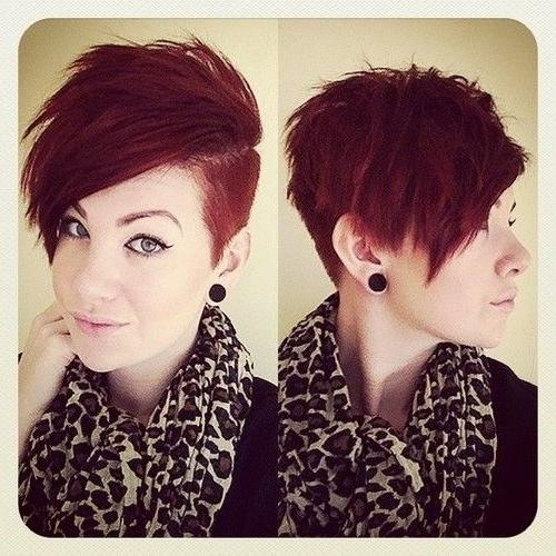 Red Short Hair Shaved Sides – Hair World Magazine Inside Short Hairstyles With Both Sides Shaved (View 18 of 20)