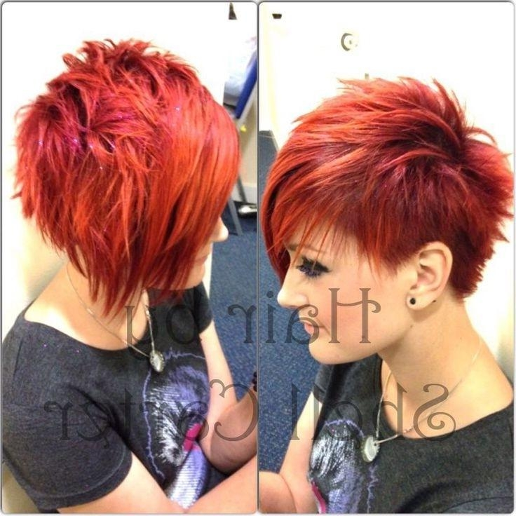 Red Short Spikey Hairstyle: Girls Haircuts – Popular Haircuts With Red Short Hairstyles (View 15 of 20)