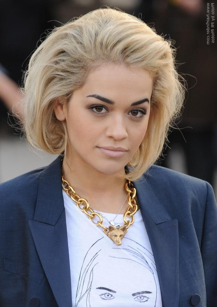 Rita Ora | Faux Asymmetrical Bob Pertaining To Rita Ora Short Hairstyles (View 7 of 20)