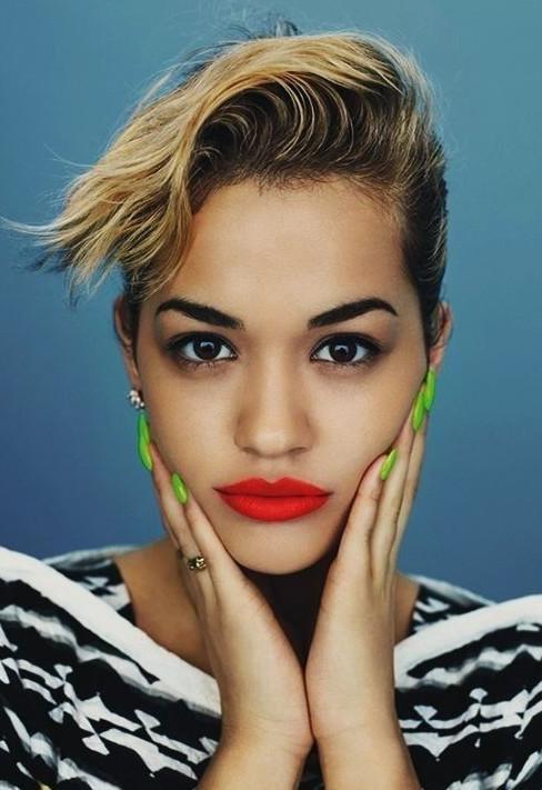 Rita Ora Short Hairstyles – Arty Boho Slicked Back Look – Pretty With Rita Ora Short Hairstyles (View 12 of 20)