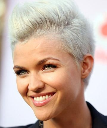 Ruby Rose's Platinum Hair In 2009, You'll Barely Recognize Ruby Throughout Ruby Rose Short Hairstyles (View 17 of 20)