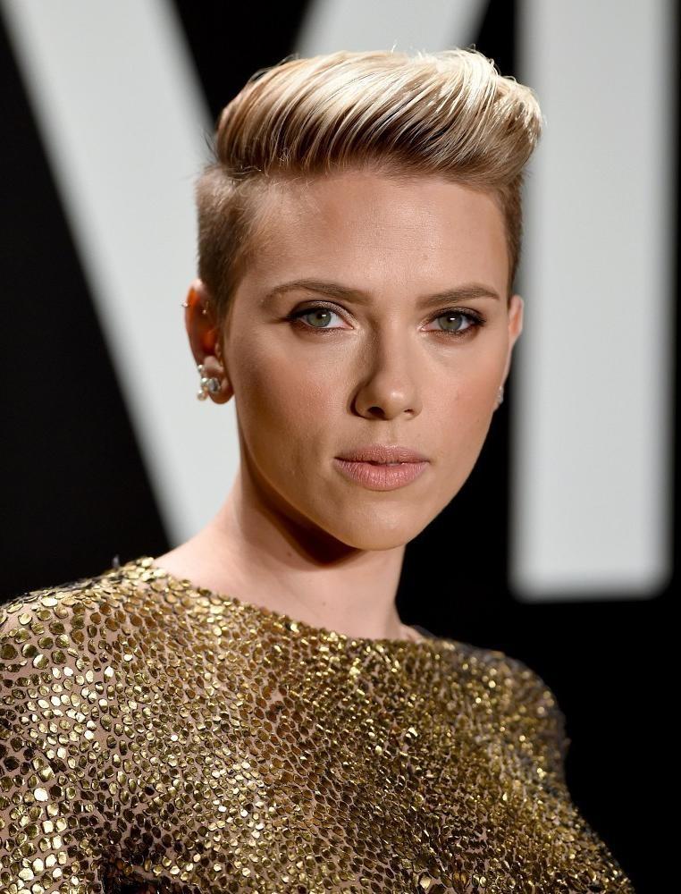 Scarlett Johansson Short Hairstyles Fauxhawk – Hair World Magazine Regarding Scarlett Johansson Short Hairstyles (View 19 of 20)