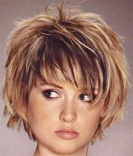 Shaggy Hairstyle For Round Face Short Shaggy Hairstyles For Thick With Regard To Short Haircuts For Big Face (View 14 of 20)