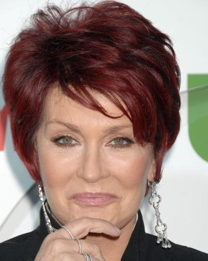 Sharon Osbourne Short Auburn Hairstyle – Everyday – Careforhair.co (View 14 of 20)