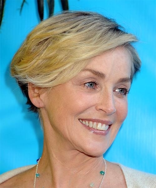 Sharon Stone Hairstyles For 2018 | Celebrity Hairstyles Regarding Sharon Stone Short Haircuts (View 9 of 20)