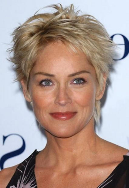 Sharon Stone Short Hairstyles For Mature Women – Hairstyles Weekly With Sharon Stone Short Haircuts (View 18 of 20)