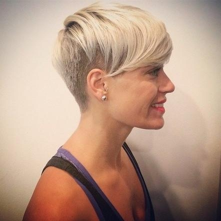 Shaved Hairstyle With Side Bangs Within Short Hairstyles With Shaved Side (View 18 of 20)