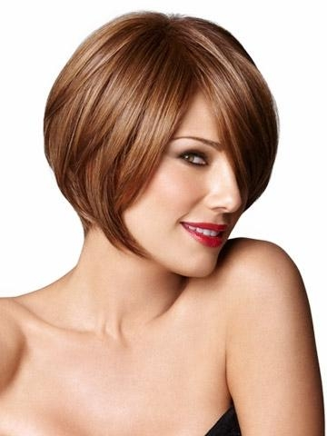 Short Auburn Wigs With Side Bangs Straight Bob Hairstyles Wig For Inside Auburn Short Hairstyles (View 17 of 20)