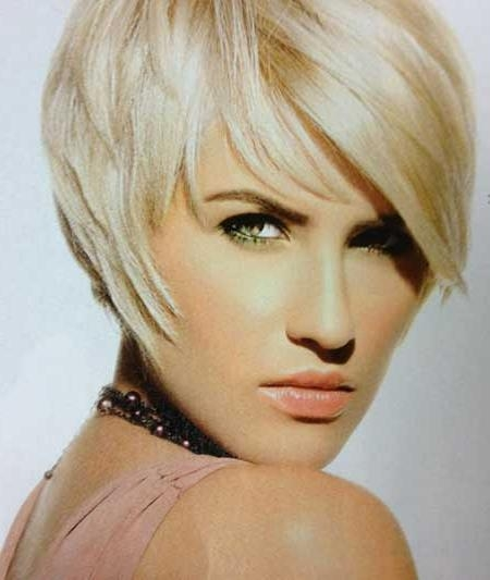 Short Blonde Haircuts For Women | Short Hairstyles 2016 – 2017 Throughout Short Hairstyles Covering Ears (View 9 of 20)
