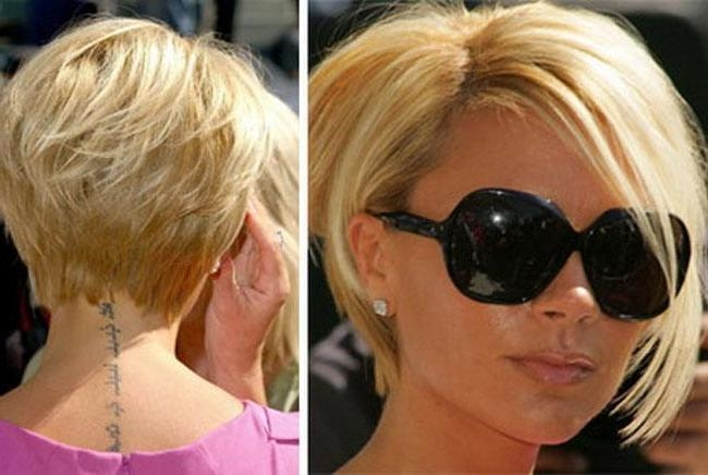 Short Bob Hairstyles With Bangs In Posh Spice Short Hairstyles (View 16 of 20)