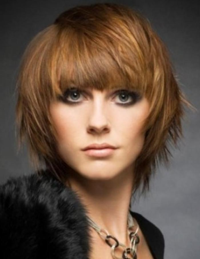 And layers short hairstyles bangs with