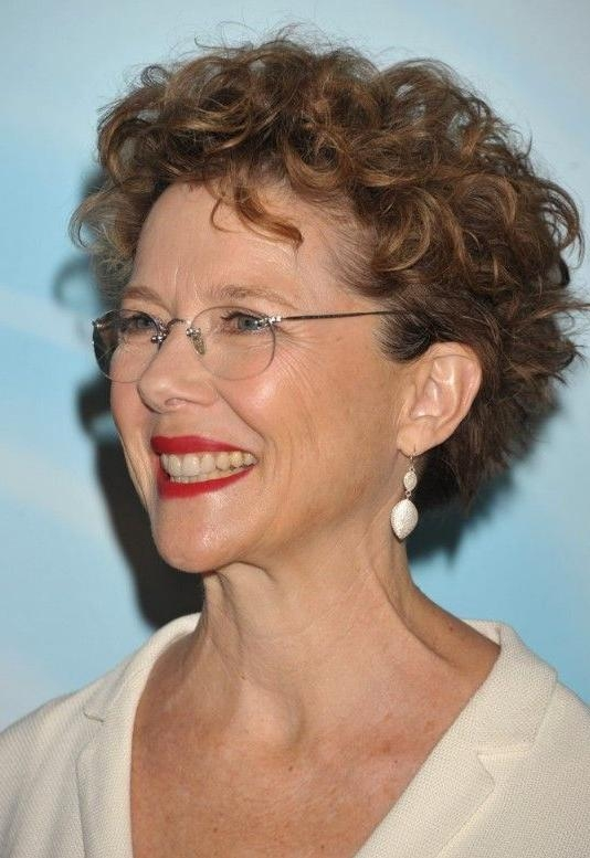 Short Curly Haircut For Women Over 50: Lively Curls In Razored Cut Regarding Short Haircuts For Older Women With Curly Hair (View 3 of 20)