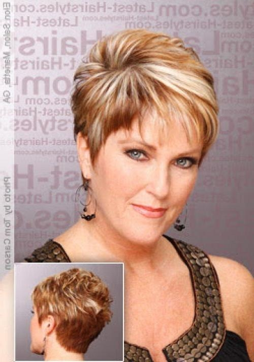 Short Curly Hairstyle Round Face |  For Women Over 50 With Intended For Womens Short Haircuts For Round Faces (View 16 of 20)