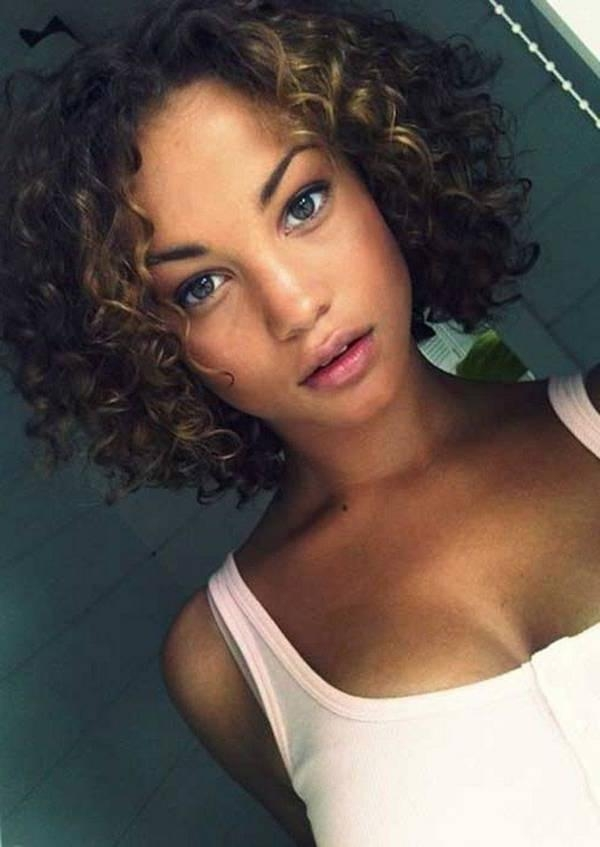 Short Curly Hairstyles For African American Women Round Face Within Short Hairstyles For African American Women With Round Faces (View 17 of 20)