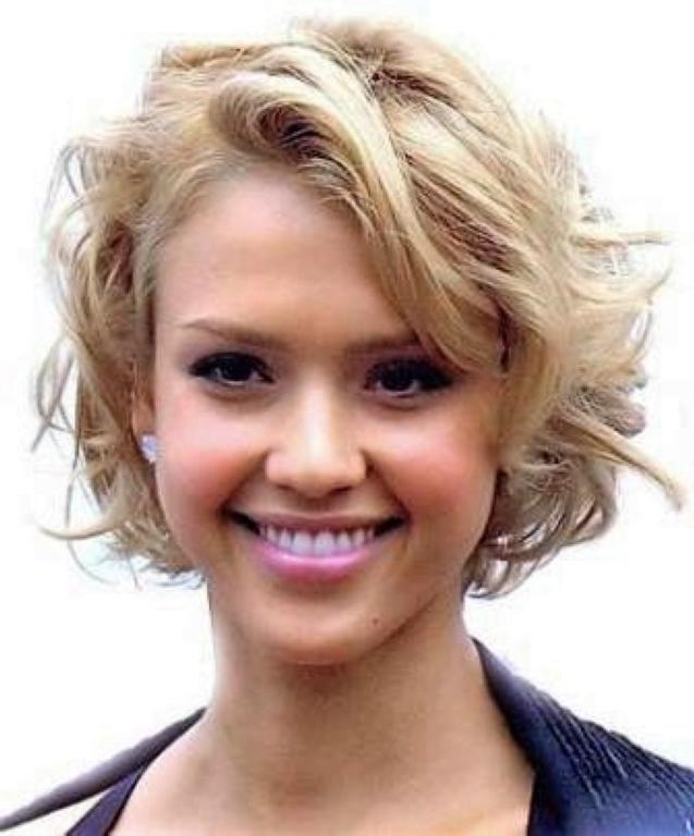 Short Curly Hairstyles With Regard To Short Haircuts For Wavy Hair And Round Faces (View 13 of 20)