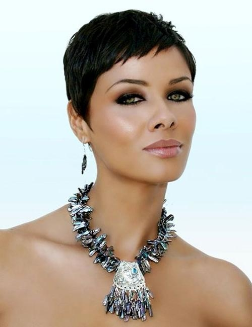Short Feminine Close Cropped Haircut For Black Women – Women Inside Cropped Short Hairstyles (View 15 of 20)