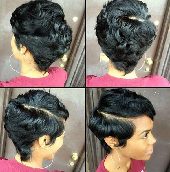 Short Hair Styles, Short Hairstyles For Black Females: Adorable Regarding Black Short Hairstyles (View 14 of 20)
