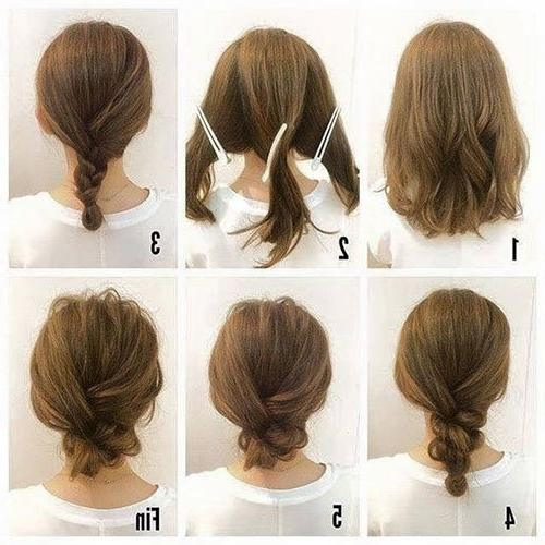 Short Hair Updos, How To Style Bobs, Lobs Tutorials Inside Updo Short Hairstyles (View 12 of 20)