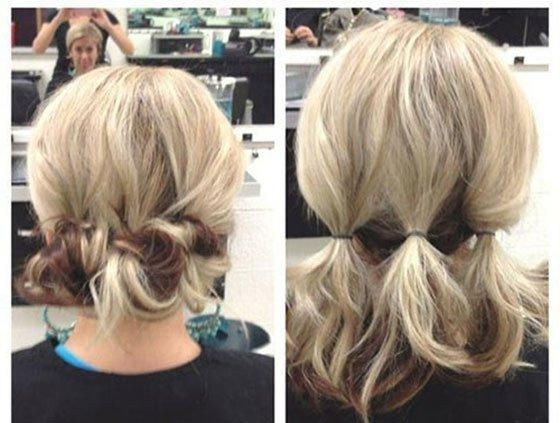 Short Hair Updos, How To Style Bobs, Lobs Tutorials Pertaining To Updo Short Hairstyles (View 13 of 20)