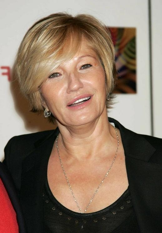 Short Haircut For Mature Women Over 50: Ellen Barkin's Short In Mature Short Hairstyles (View 11 of 20)