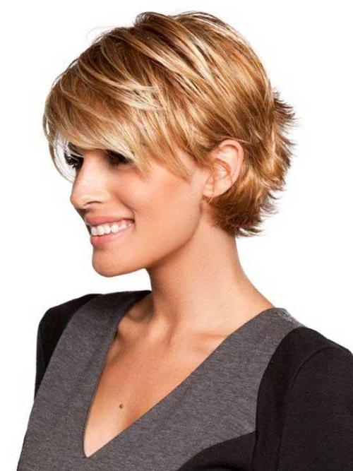 Short Haircut Styles : Pictures Of Short Haircuts For Fine Hair Pertaining To Short Haircuts With Bangs For Fine Hair (View 2 of 20)