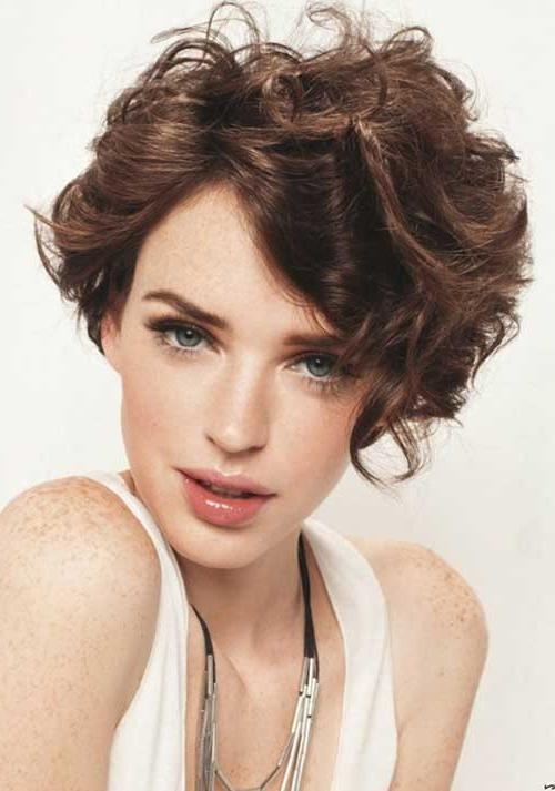 Short Haircut Styles : Short Haircuts For Thick Curly Hair Cute Inside Short Haircuts For Thick Curly Frizzy Hair (View 12 of 20)
