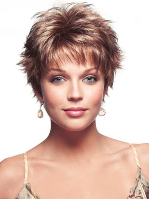 Short Haircut Styles : Short Sassy Haircuts For Fine Hair Easy Regarding Short Haircuts For Curly Fine Hair (View 17 of 20)