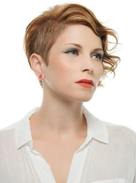 Short Haircut With Curly Hair: Classic Copper Color – Popular Haircuts Within Classic Short Hairstyles (View 18 of 20)