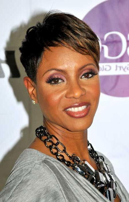 Short Haircuts For Black Women Regarding Short Haircuts For Black Women With Fine Hair (View 12 of 20)