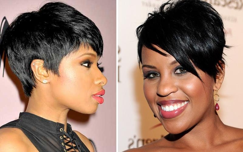 Short Haircuts For Black Women With Round Faces Regarding Short Haircuts For Round Faces Black Women (View 15 of 20)