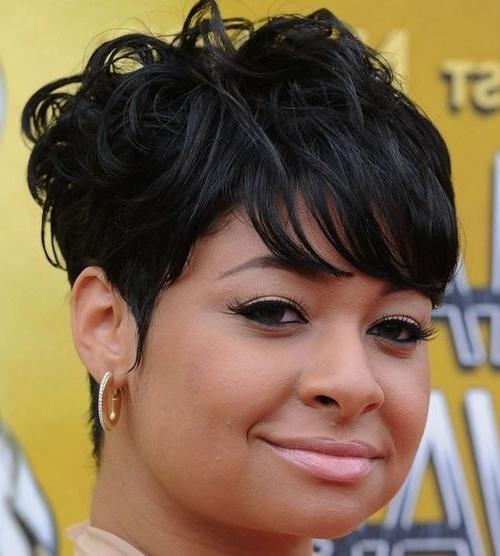 Short Haircuts For Black Women With Round Faces | Woman Hairstyles With Black Short Haircuts For Round Faces (View 13 of 20)