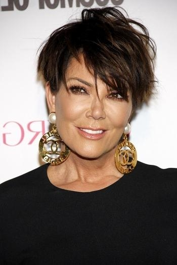 Short Haircuts For Thick Hair Kris Jenner | Sophisticated Allure Regarding Short Haircuts Kris Jenner (View 12 of 20)