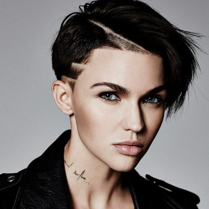 Short Haircuts For Women Pertaining To Ruby Rose Short Hairstyles (View 3 of 20)