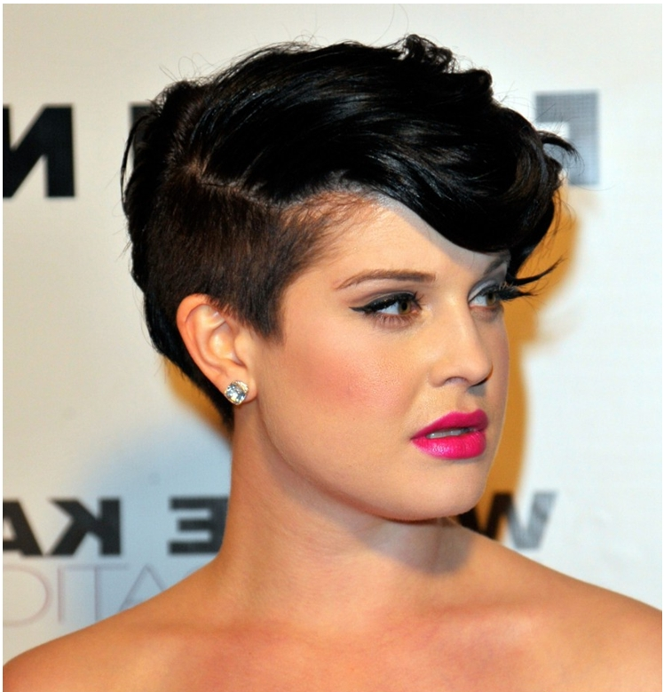 Short Haircuts With Shaved Sides – Hottest Hairstyles 2013 With Part Shaved Short Hairstyles (View 17 of 20)