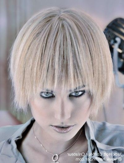Short Hairstyle With A Full Fringe, That Covers The Ears With Regard To Short Hairstyles Covering Ears (View 12 of 20)