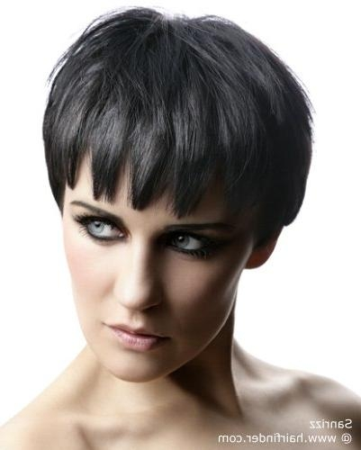 Short Hairstyle With Sides That Cover Half Of The Ears | Black For Short Hairstyles Covering Ears (View 8 of 20)