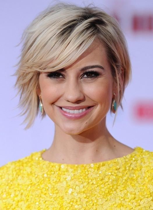 Short Hairstyles 2014: Cute Short Hairstyle With Long Side Swept Inside Short Haircuts With Side Fringe (View 8 of 20)