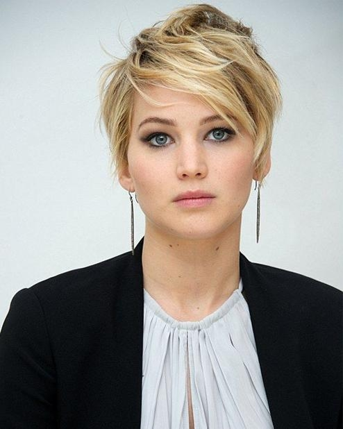 Short Hairstyles 2015 Jennifer Lawrence | World's Best Hairstyles For Jennifer Lawrence Short Hairstyles (View 16 of 20)