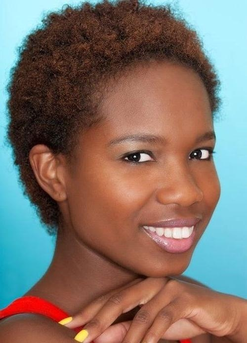 Short Hairstyles: African American Natural Short Hairstyles Images Regarding African Short Haircuts (View 20 of 20)