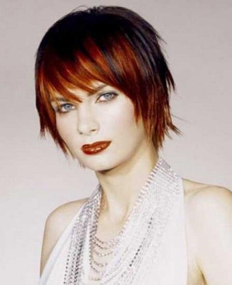 Photo Gallery Of Short Hairstyles With Red Highlights Viewing 15 Of