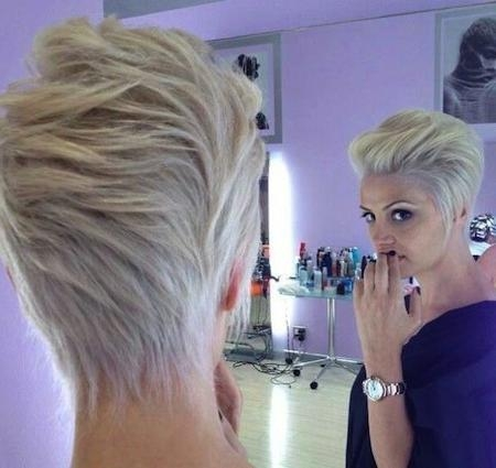 Short Hairstyles And Cuts | Platinum Blonde Edge Cut For 2015 In Platinum Blonde Short Hairstyles (View 16 of 20)