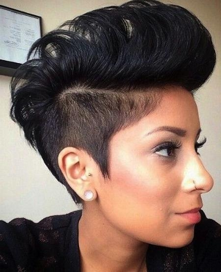 Short Hairstyles And Cuts | Shaved Sides Mohawk For Women Intended For Short Haircuts With Shaved Side (View 16 of 20)