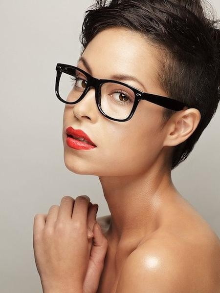 Short Hairstyles And Cuts | Short Do With Nerdy Glasses In Short Hairstyles For Round Faces And Glasses (View 11 of 20)