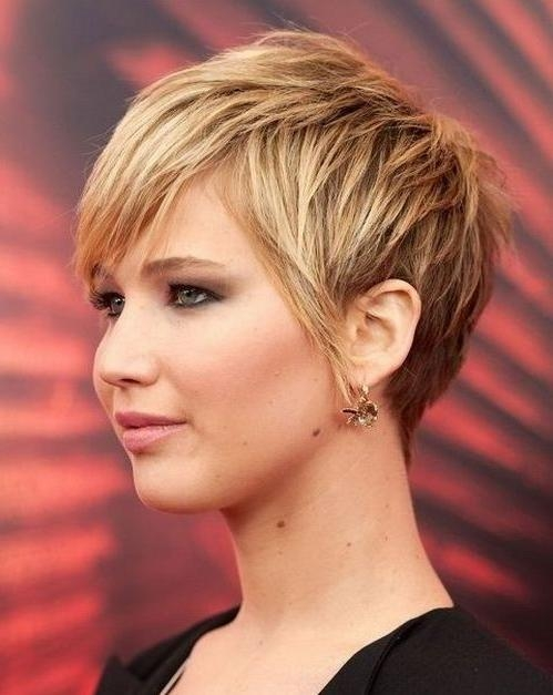 20 Best Collection of Short Hairstyles For Square Faces And Thick Hair
