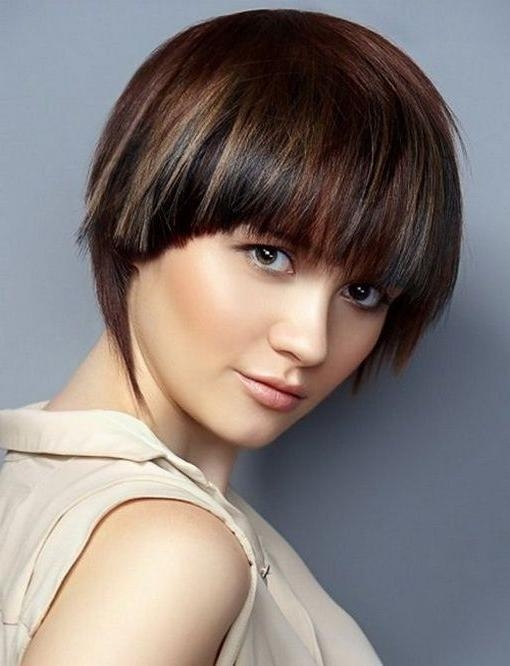 Short Hairstyles And Cuts | Short Haircuts For Women With Round Inside Short Haircuts With Bangs For Round Face (View 16 of 20)