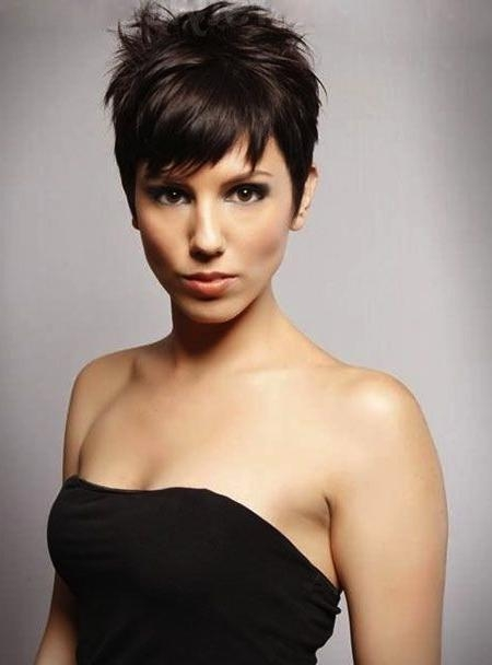Short Hairstyles And Cuts | Short Pixie – Edgy Woman With Spikes Inside Edgy Short Haircuts For Thick Hair (View 6 of 20)